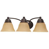 Nuvo Lighting Empire 3 Light Vanity & Wall in Mahogany Bronze 60/3127