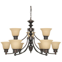 Empire 9 Light 32 inch Mahogany Bronze Chandelier Ceiling Light