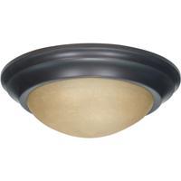 Nuvo 60/3136 Signature 2 Light 14 inch Mahogany Bronze Flushmount Ceiling Light