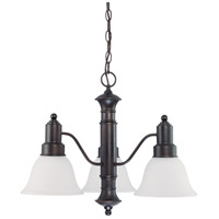 Nuvo Lighting Gotham 3 Light Chandelier in Mahogany Bronze 60/3144