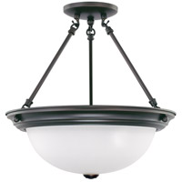 Nuvo 60/3151 Signature 3 Light 15 inch Mahogany Bronze Semi-Flush Ceiling Light