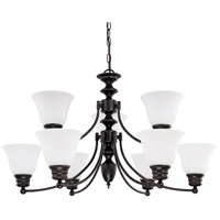 Nuvo Lighting Empire 9 Light Chandelier in Mahogany Bronze 60/3171