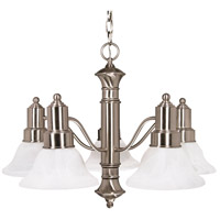 Nuvo 60/3182 Gotham 5 Light 25 inch Brushed Nickel Chandelier Ceiling Light photo thumbnail