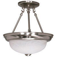 Nuvo 60/3184 Signature 2 Light 11 inch Brushed Nickel Semi-Flush Ceiling Light
