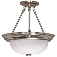 Nuvo 60/3185 Signature 2 Light 13 inch Brushed Nickel Semi-Flush Ceiling Light