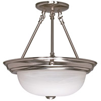 Signature 3 Light 15 inch Brushed Nickel Semi-Flush Ceiling Light
