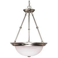 Signature 3 Light 20 inch Brushed Nickel Pendant Ceiling Light