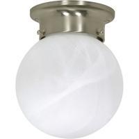Nuvo 60/3189 Signature 1 Light 6 inch Brushed Nickel Flushmount Ceiling Light