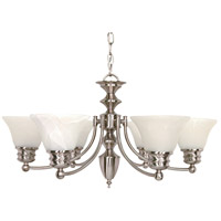 Empire 6 Light 26 inch Brushed Nickel Chandelier Ceiling Light