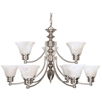 Nuvo Lighting Empire 9 Light Chandelier in Brushed Nickel 60/3196