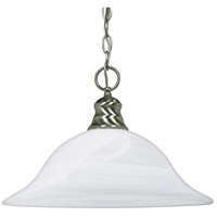 Signature 1 Light 16 inch Brushed Nickel Pendant Ceiling Light