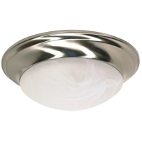 Nuvo 60/3201 Signature 1 Light 12 inch Brushed Nickel Flushmount Ceiling Light