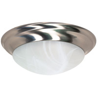 Nuvo 60/3203 Signature 3 Light 17 inch Brushed Nickel Flushmount Ceiling Light
