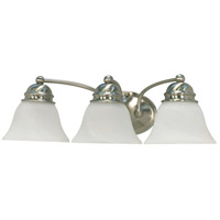 Nuvo 60/3206 Empire 3 Light 21 inch Brushed Nickel Vanity & Wall Wall Light photo thumbnail