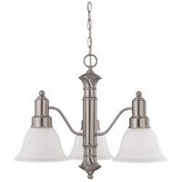 Nuvo Lighting Gotham 3 Light Chandelier in Brushed Nickel 60/3243