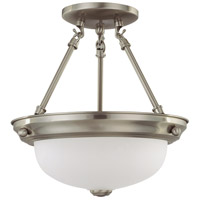 Nuvo 60/3244 Signature 2 Light 11 inch Brushed Nickel Semi-Flush Ceiling Light