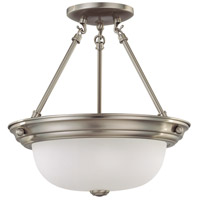 Nuvo Lighting Signature 2 Light Semi-Flush in Brushed Nickel 60/3245
