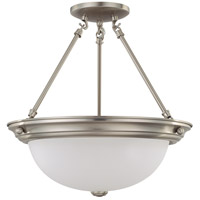 Nuvo Lighting Signature 3 Light Semi-Flush in Brushed Nickel 60/3246 photo thumbnail