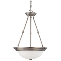 Nuvo 60/3247 Signature 3 Light 15 inch Brushed Nickel Pendant Ceiling Light