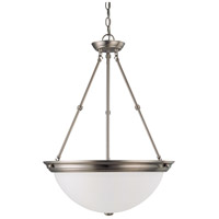 Nuvo 60/3248 Signature 3 Light 20 inch Brushed Nickel Pendant Ceiling Light