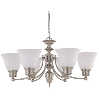 Nuvo 60/3255 Empire 6 Light 26 inch Brushed Nickel Chandelier Ceiling Light photo thumbnail