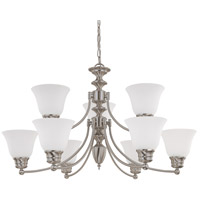 Nuvo 60/3256 Empire 9 Light 32 inch Brushed Nickel Chandelier Ceiling Light photo thumbnail