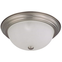 Nuvo 60/3263 Signature 3 Light 15 inch Brushed Nickel Flushmount Ceiling Light