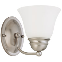 Empire 1 Light 6 inch Brushed Nickel Vanity & Wall Wall Light