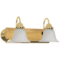 Nuvo 60/328 Ballerina 2 Light 18 inch Polished Brass Vanity Light Wall Light