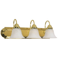 Nuvo 60/329 Ballerina 3 Light 24 inch Polished Brass Vanity & Wall Wall Light