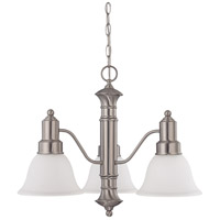 Gotham 3 Light 23 inch Brushed Nickel Chandelier Ceiling Light