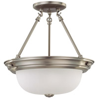 Signature 2 Light 13 inch Brushed Nickel Semi-Flush Ceiling Light