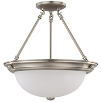 Nuvo Lighting Signature 3 Light Semi-Flush in Brushed Nickel 60/3296