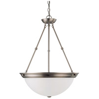 Nuvo Lighting Signature 3 Light Pendant in Brushed Nickel 60/3298
