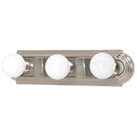 Nuvo 60/3301 Signature 3 Light 18 inch Brushed Nickel Vanity & Wall Wall Light