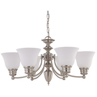 Nuvo 60/3305 Empire 6 Light 26 inch Brushed Nickel Chandelier Ceiling Light photo thumbnail