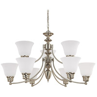 Empire 9 Light 32 inch Brushed Nickel Chandelier Ceiling Light