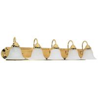 Nuvo Lighting Ballerina 5 Light Vanity & Wall in Polished Brass 60/331