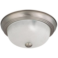 Nuvo 60/3311 Signature 2 Light 11 inch Brushed Nickel Flushmount Ceiling Light photo thumbnail