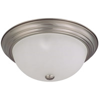 Nuvo 60/3313 Signature 3 Light 15 inch Brushed Nickel Flushmount Ceiling Light