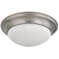 Signature 3 Light 17 inch Brushed Nickel Flushmount Ceiling Light