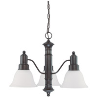 Nuvo 60/3334 Gotham 3 Light 23 inch Mahogany Bronze Chandelier Ceiling Light photo thumbnail