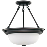 Nuvo Lighting Signature 2 Light Semi-Flush in Mahogany Bronze 60/3339