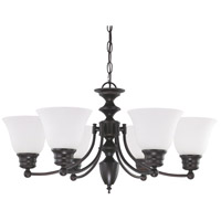 Nuvo 60/3359 Empire 6 Light 26 inch Mahogany Bronze Chandelier Ceiling Light photo thumbnail