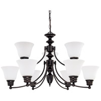 Nuvo Lighting Empire 9 Light Chandelier in Mahogany Bronze 60/3361