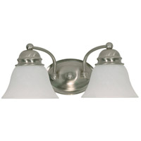 Empire 2 Light 15 inch Brushed Nickel Vanity & Wall Wall Light