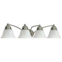 Brushed Nickel Empire Bathroom Vanity Lights