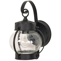 Nuvo 60/3459 Signature 1 Light 11 inch Textured Black Wall Lantern