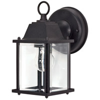 Nuvo 60/3465 Signature 1 Light 9 inch Textured Black Wall Lantern