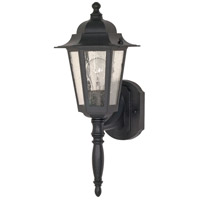 Nuvo 60/3472 Central Park 1 Light 12 inch Textured Black Wall Lantern